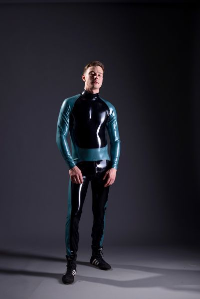 Rubber CatSuit with Raglan Arms